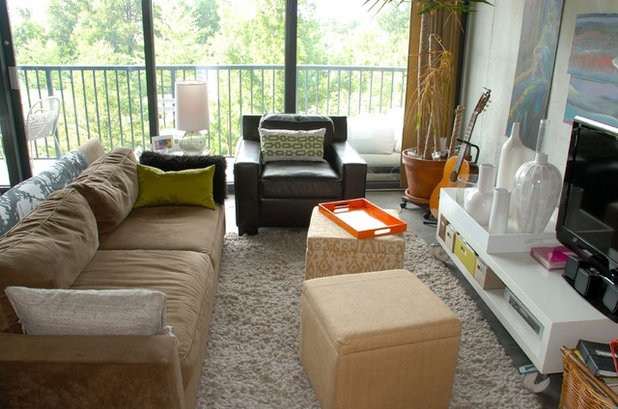 stadium seating couches living room. Eclectic Living Room Lucas s Loft Touchdown  Winning Seating for Your Football Party