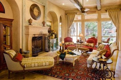 Mediterranean Living Room by Sitterle Homes