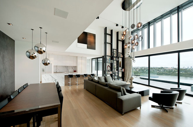 Contemporary Living Room by Daniel Marshall Architect