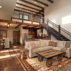 Greenville Barn Rustic Living Room Austin By