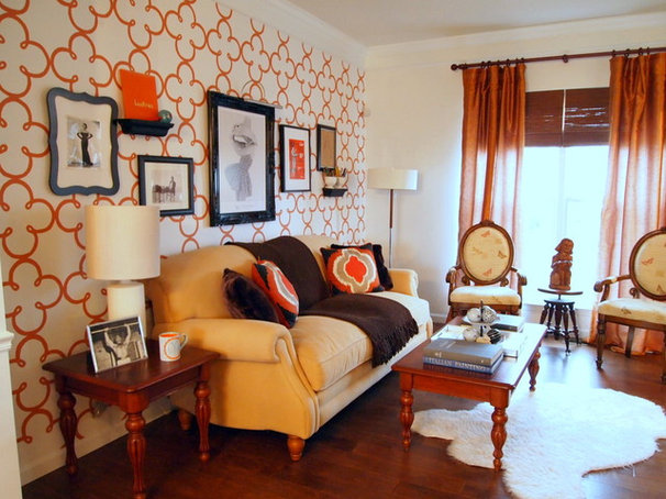 Eclectic Living Room by Shoshana Gosselin