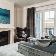 Contemporary Living Room by 24e Design Co.