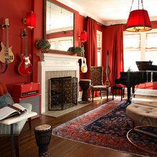 Eclectic Living Room by Dillard Pierce Design Associates
