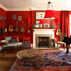 eclectic living room by Christy Dillard Kratzer