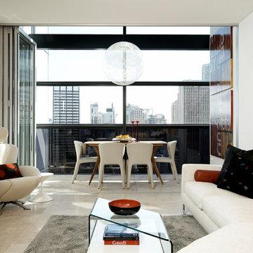 Lumiere Sydney CBD apartment design for an art collector