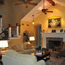 Mediterranean Living Room by Heritage Custom Homes By Ed Domer, Inc.