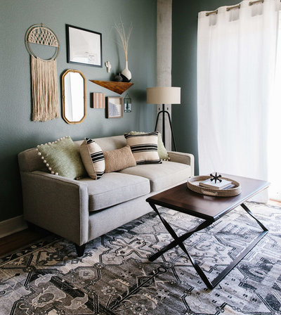 Eclectic Living Room by BANDD DESIGN