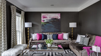 Luxe Drama Living Room by GreyHunt Interiors