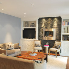 Contemporary Living Room by WoodWorks INC.