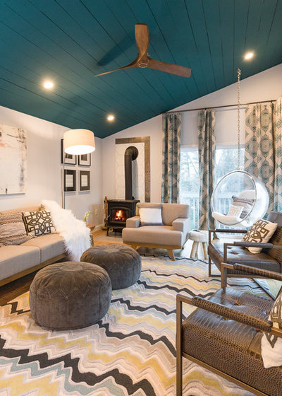 Scandinavian modern inspired makeover for a new hampshire home for New england style living room ideas
