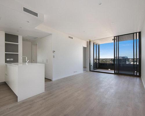 moderne wohnzimmer mit vinyl boden design ideen bilder