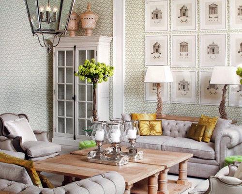 Green Wallpaper Houzz