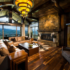 Rustic Living Room by Martin Manley Architects