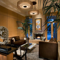 Asian Living Room by IMI Design, LLC