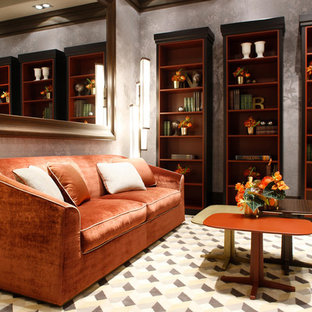 Inspiration for a large transitional enclosed living room remodel in Venice