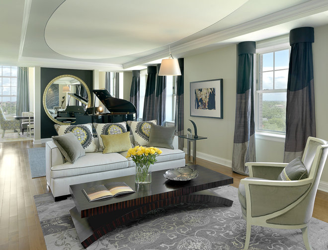 Contemporary Living Room by Edwin Pepper Interiors