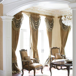 Luxury Panels - Panels with layers of custom work hung on a rod. Perfect with the elegant decor of the room.
