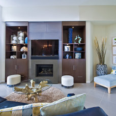 Transitional Living Room by The Spotted Frog Designs