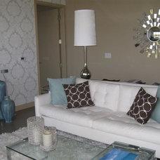 Modern Living Room by K2 Design, Inc.