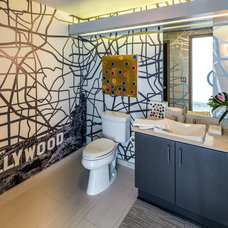 Contemporary Powder Room by FOUR POINT Design+Construction Inc.