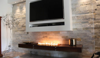 Luxury ribbon fireplaces and art design bio fires in most stunning interiors