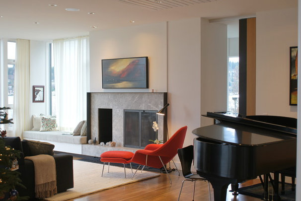 Modern Living Room by Jeff Luth - Soldano Luth Architects