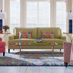 Leopard Aqua Living Room Modern Living Room Boston