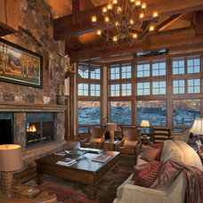 Transitional Living Room by Lynne Barton Bier - Home on the Range Interiors