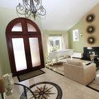 M A P Interiors Contemporary Living Room Orange