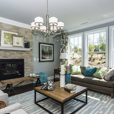 Transitional Living Room by M/I Homes
