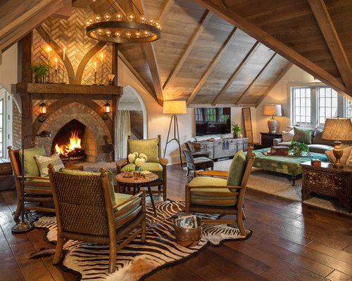 English Hunting Lodge Home Design Ideas Renovations Photos