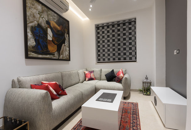 Contemporary Family Room by Mads Creations Pvt Ltd