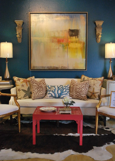Eclectic Living Room by Anna Lattimore Interior Design