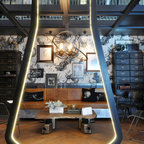 Steampunk Ceiling Modern Home Office Los Angeles