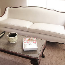 Contemporary Living Room madebygirl- french provincial sofa re-upholstered
