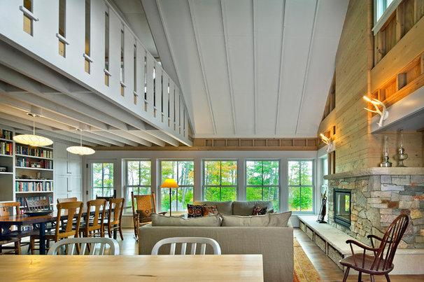 Farmhouse Living Room by Albertsson Hansen Architecture, Ltd