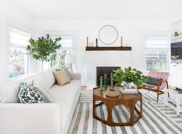 Midcentury Living Room by Heidi Caillier Design