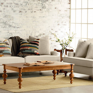 Inspiration for an eclectic living room remodel in Houston
