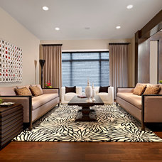 Contemporary Living Room by Luxe Design Inc.