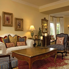 Traditional Living Room by Paula Grace Designs, Inc.