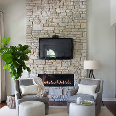 Traditional Living Room by R. Cartwright Design