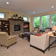 traditional living room by Gonyea Homes & Remodeling