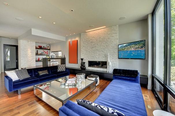 Contemporary Living Room Main floor living room