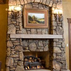 Rustic Living Room by DesignWorks Development