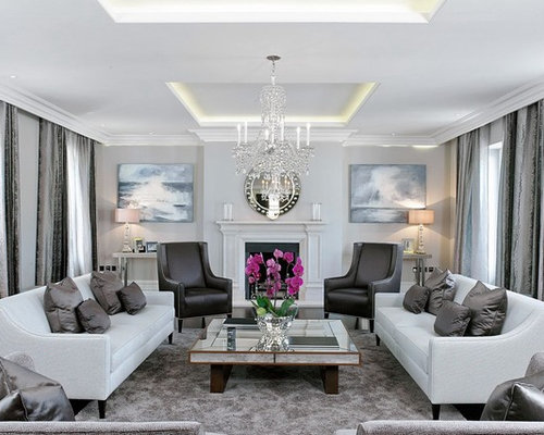 Cool living room ideas houzz for Cool living room ideas