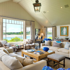Beach Style Living Room by Anthony Catalfano Interiors Inc.