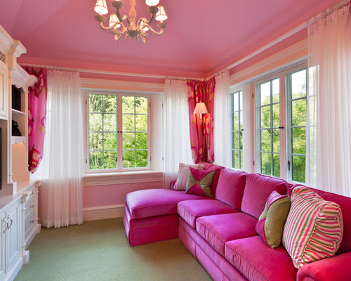 Hot Pink Fuschia Sofa | Houzz