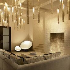 Mediterranean Living Room by Amy Noel Design