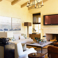 Traditional Living Room by Madeline Stuart
