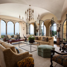 Mediterranean Living Room by Paul Brant Williger Architect